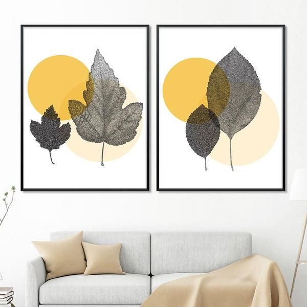 Leaves Scandinavian Style Canvas Posters.  Order Today and Get Free Worldwide Shipping. #poster #print #art #wallart #artprint