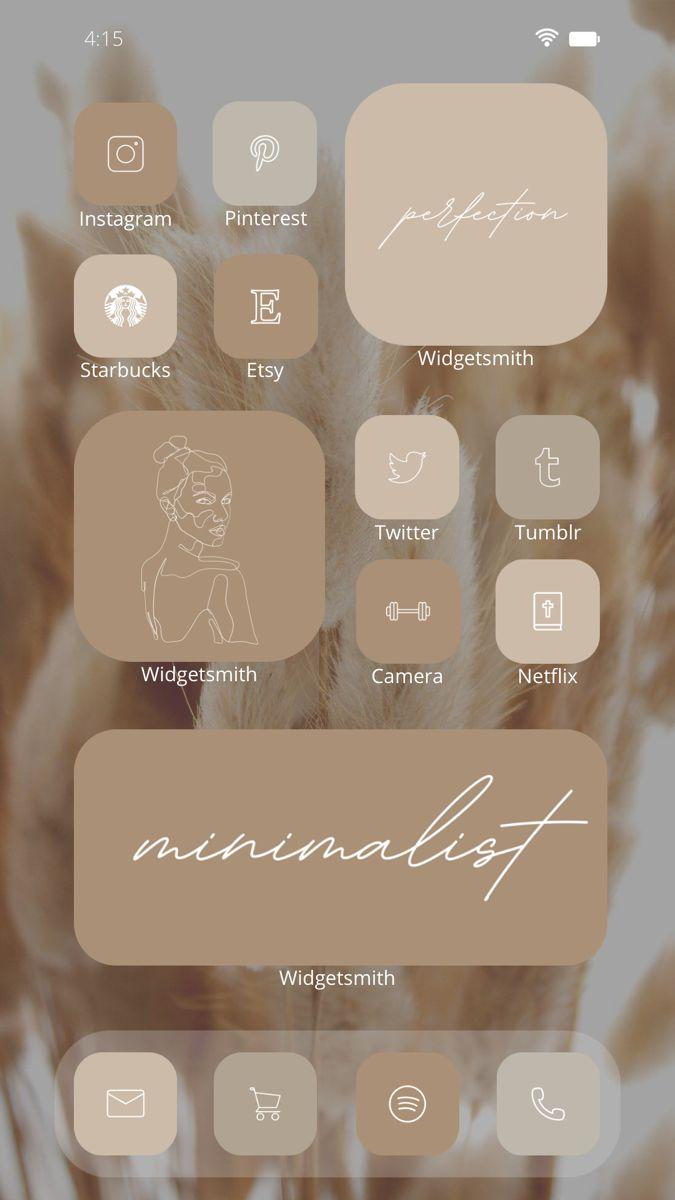iOS 14 Beige Aesthetic 800 App Icons Pack | Laconi