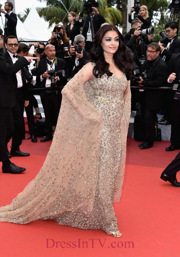 Sweetheart Aishwarya Rai Beaded Cape Gowns Cannes Film Festival 2016 ...