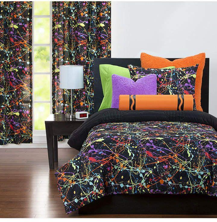 Crayola Neon Splat 5 Piece Twin Luxury Duvet Set Reviews Bed In A Bag Bed Bath Macy S Comforter Sets Duvet Sets Furniture
