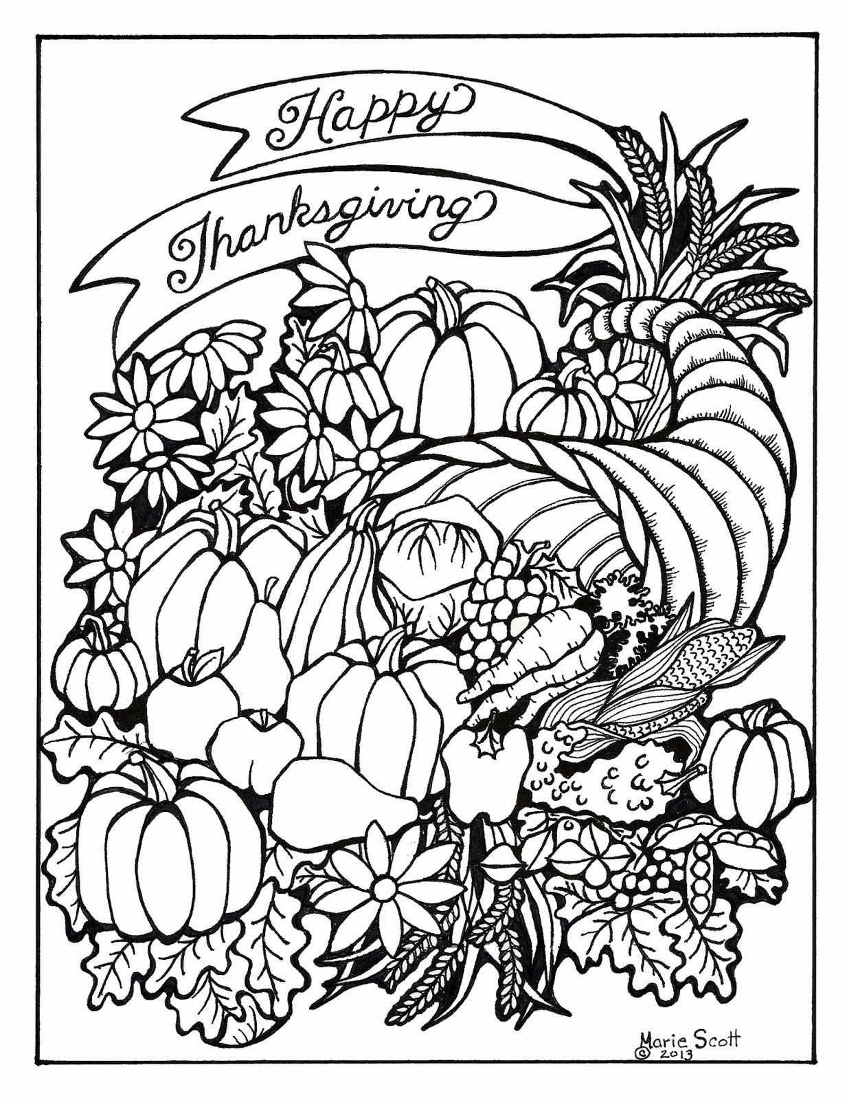 Thanksgiving Coloring Pages For Adults In 2020 Thanksgiving