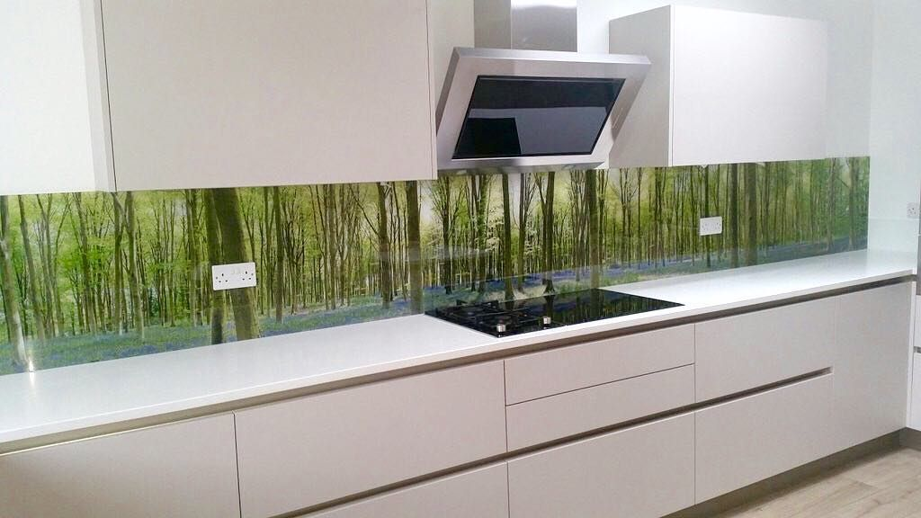 Our bluebell photos become printed glass splashbacks by - küche wandpaneele glas