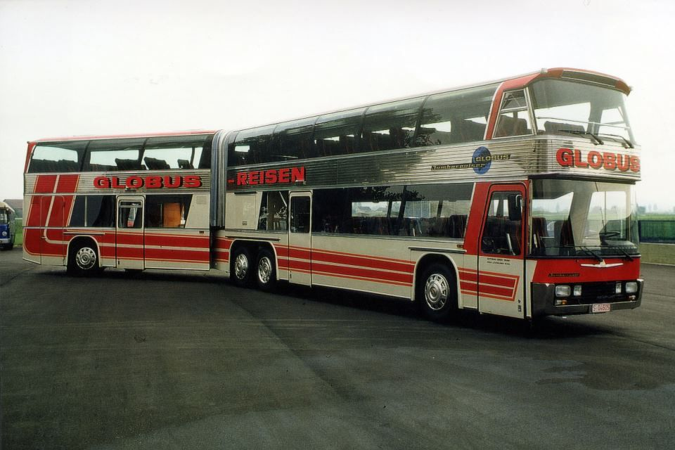 Vintage Double Decker Articulated Bus Avec Images Transport En