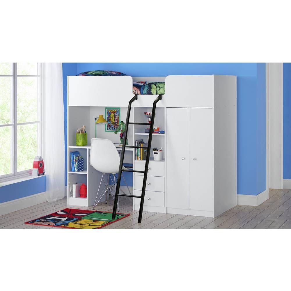Buy Argos Home Ohio White High Sleeper & Kids Mattress ...