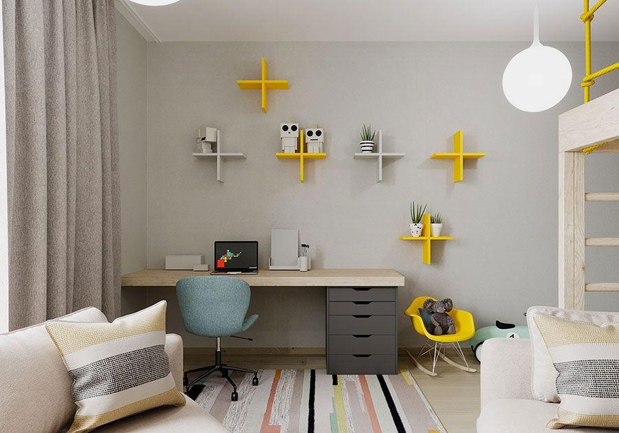 Idee salvaspazio per ottimizzare la camera dei tuoi figli, trovando la. Scrivanie Per Camerette 35 Idee Originali Per L Angolo Studio Dei Bambini Mondodesign It Study Room Design Room Design Interior Design