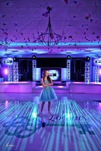 Bat Mitzvah Decor Ideas Garden Erflies Were Suspended From The Ceiling At This Themed Celebration