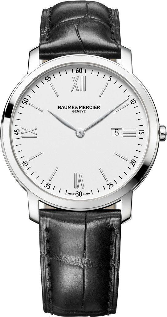 32bf790b118  baumeetmercier Watch Classima  bezel-fixed  bracelet-strap-alligator   brand-baume-et-mercier  case-depth-5mm  case-material-steel   case-width-39mm ...