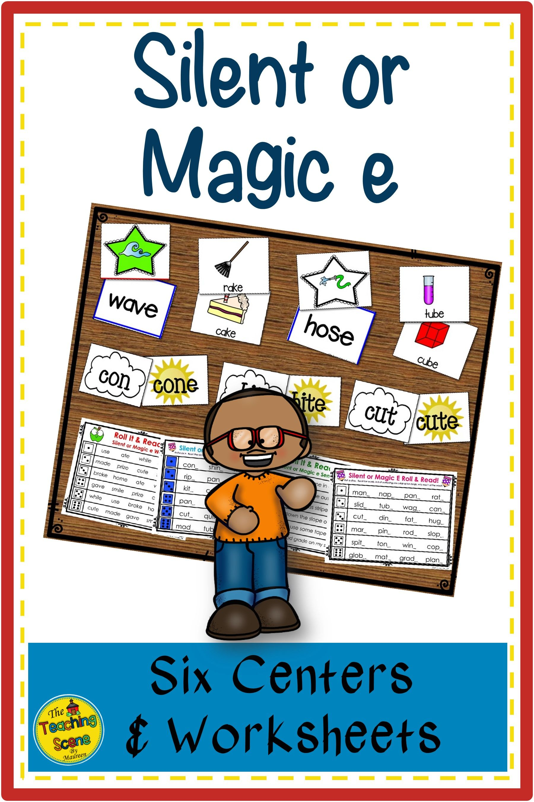 Silent Or Magic Phonics Centers Activities Amp Worksheets