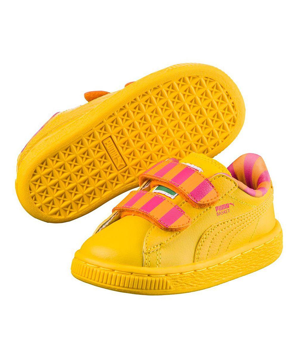 PUMA Sesame Street Dandelion Big Bird Mono V Leather Sneaker - Kids