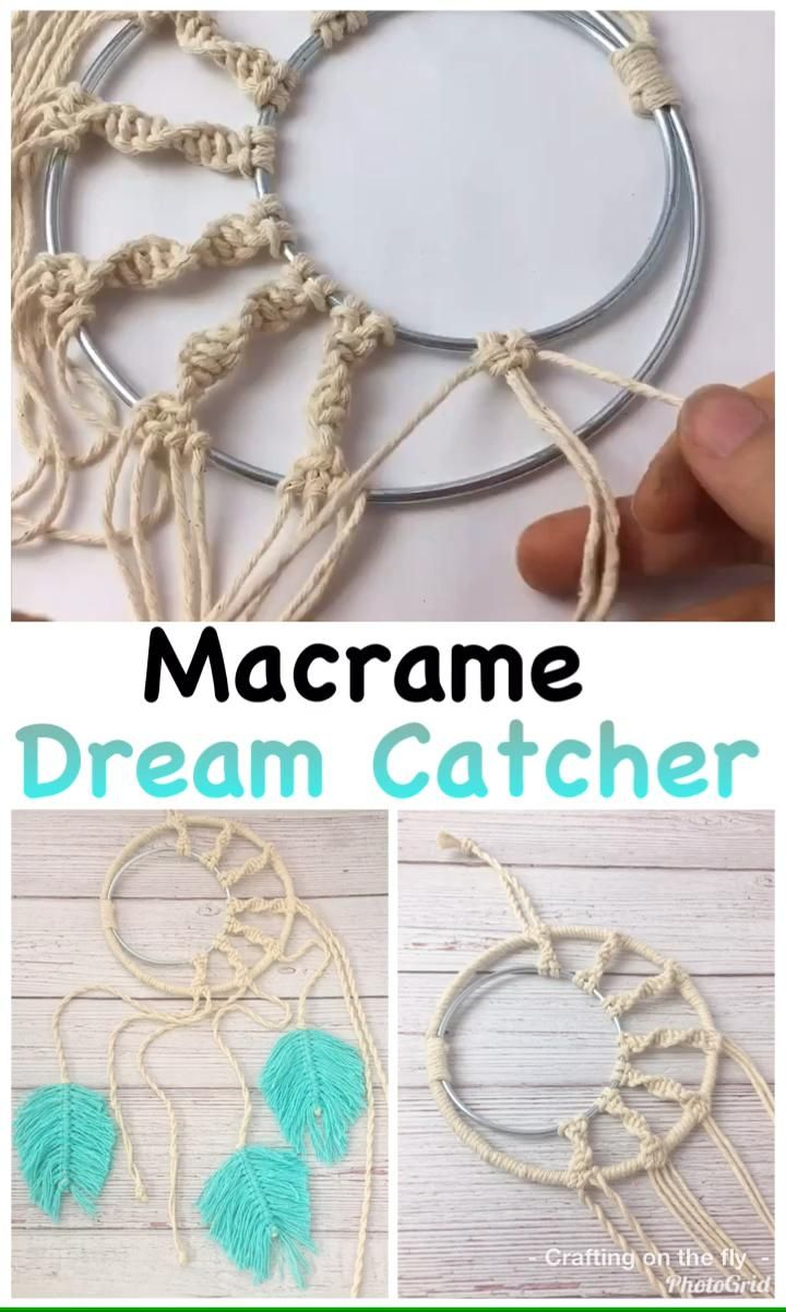 Macrame Dream Catcher Wall Hanging Tutorial- Crafting on the Fly