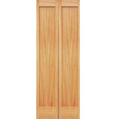 1 Panel Unfinished Pine Shaker Bi Fold Door Bifold Doors Types Of Doors Paneling
