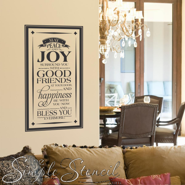 An Irish Proverb Vinyl Wall Lettering Decal Sign That Reads May - Custom vinyl wall lettering decals