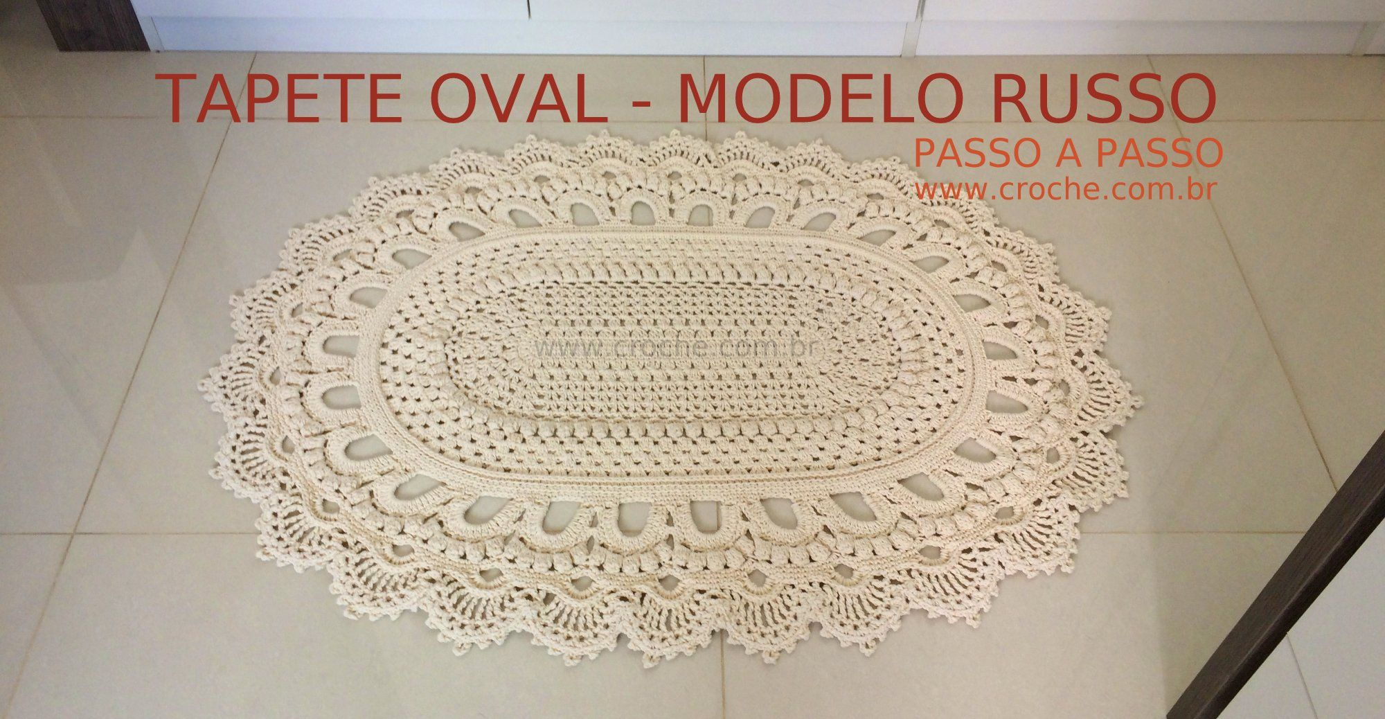 Tapete oval modelo Russo – passo a passo | Tapetes, Agujas de tejer ...