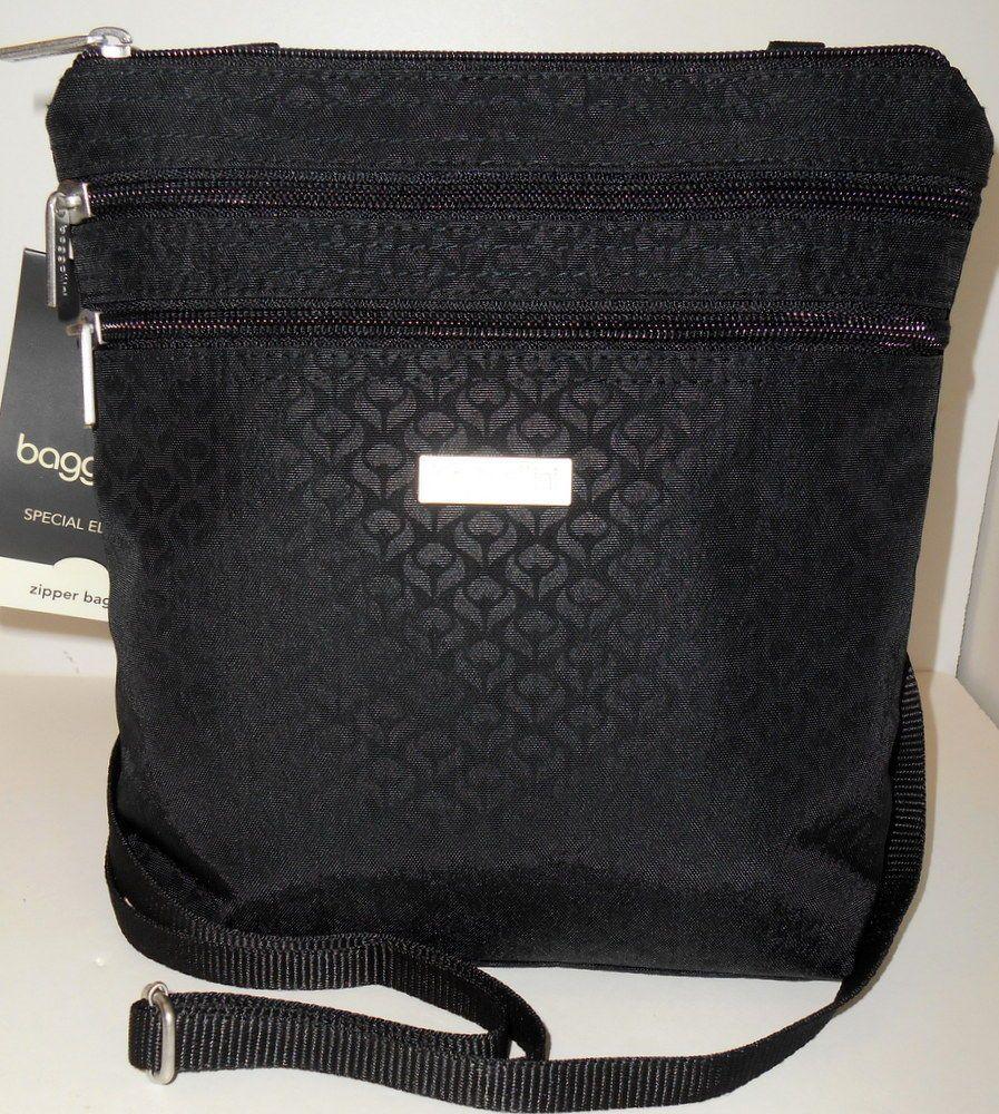 a2be323a2e baggallini Special Edition ZIPPER Bagg Crossbody Black Print Zpt369blb