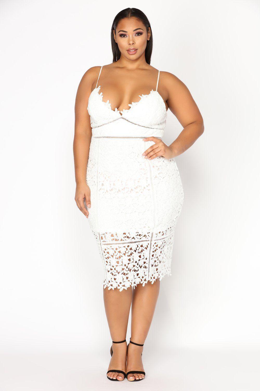 Mariposa Floral Crochet Dress - White in 2019   plus size   Dresses ...