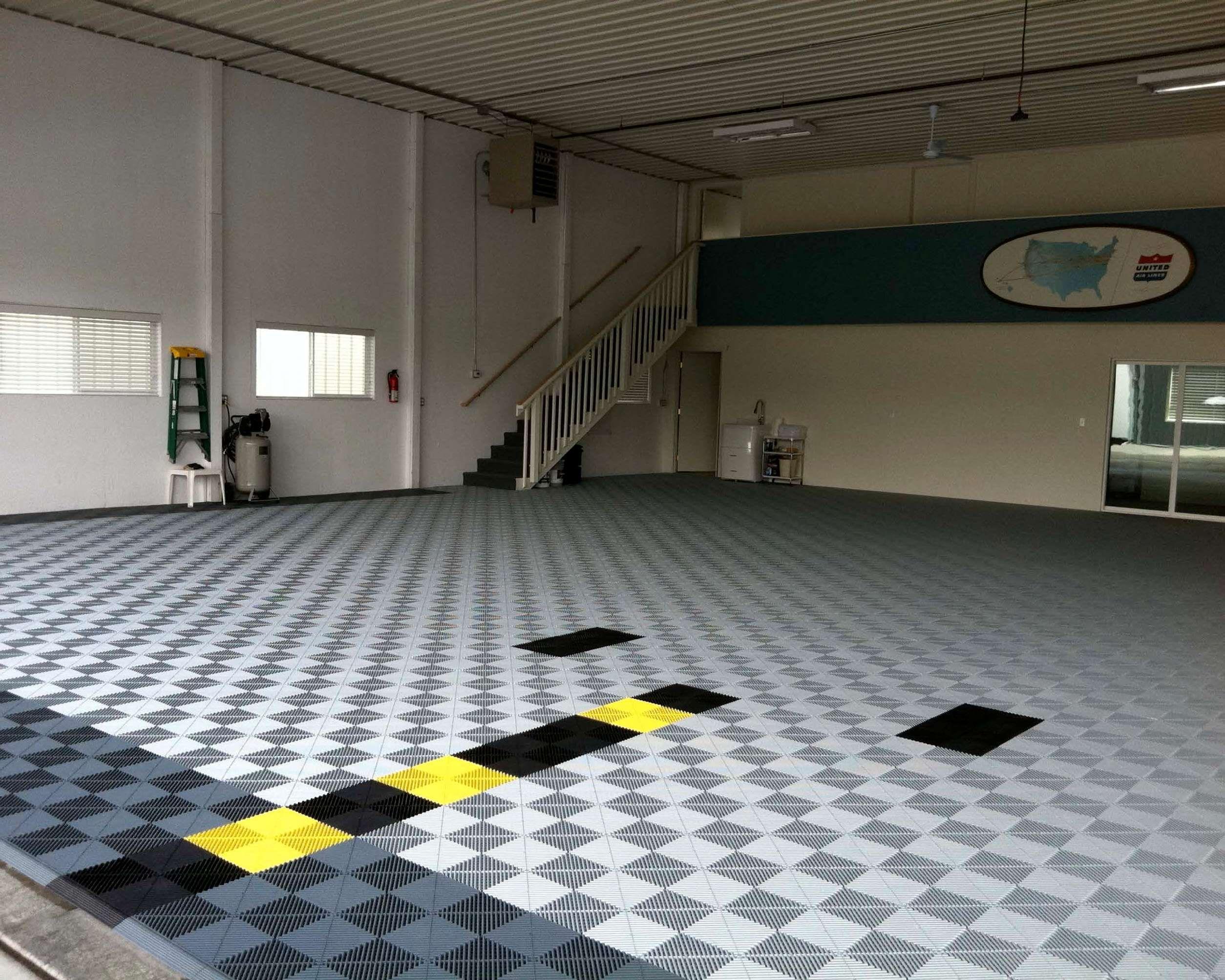 Custom hangar floor swisstrax ribtrax floors