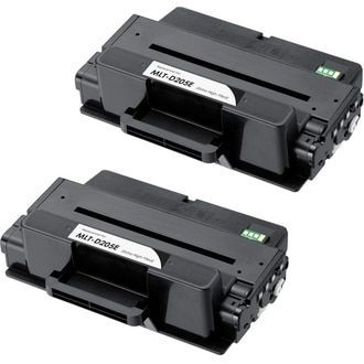 Twin Pack - Extra High Yield Compatible replacement for Samsung MLT-D205E laser toner cartridge