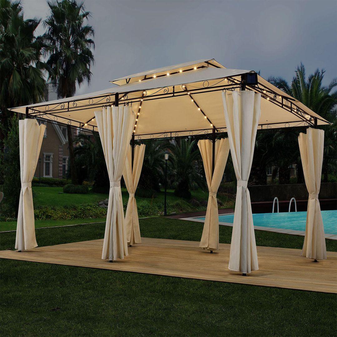 Pavillon Gartenzelt 3x4 Creme Mit Led Gartenzelt Pavillon Zelten