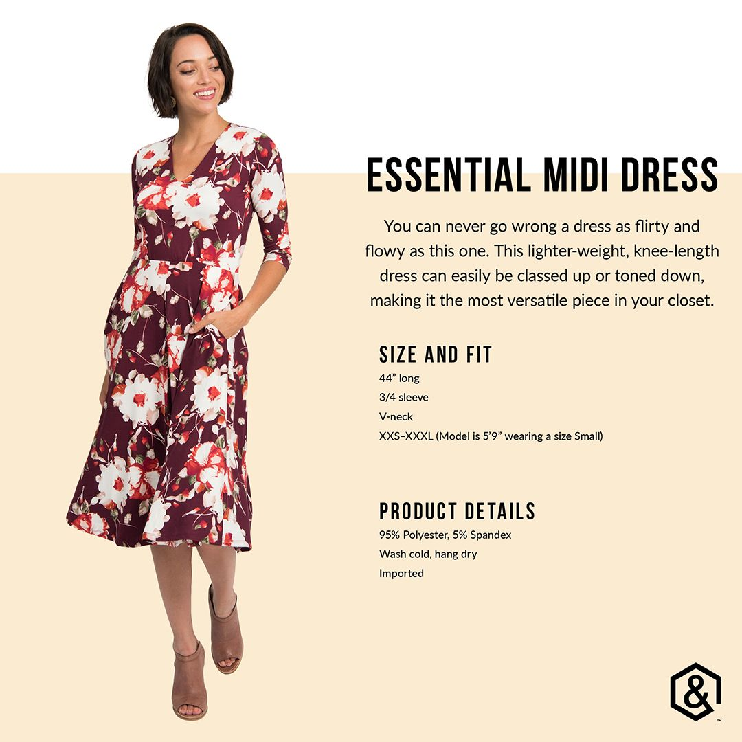 The Curie Dress Is Now Called The Essential Midi Dress