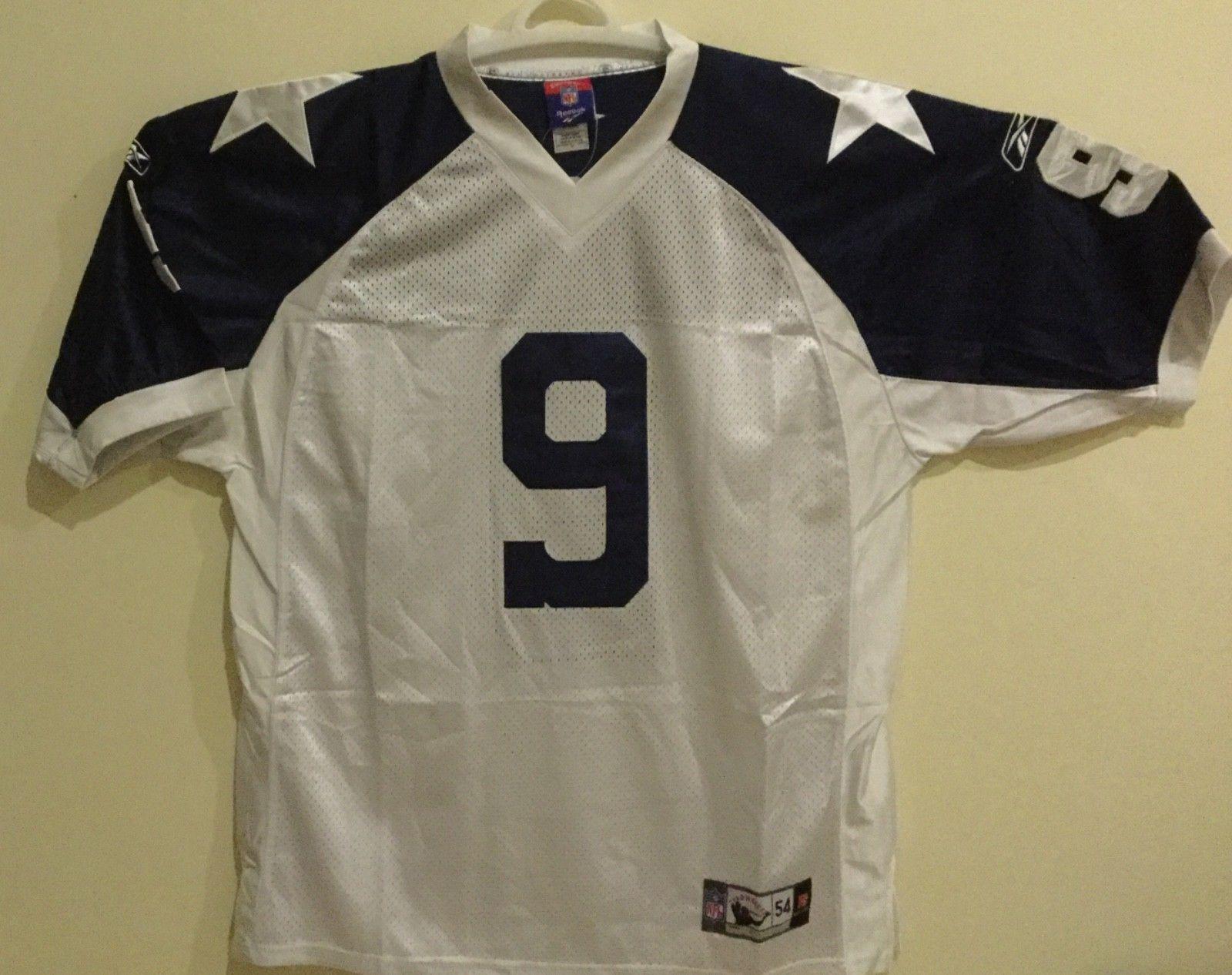 premium selection 11d01 540bf NWT Reebok Dallas Cowboys Tony Romo White Throwback jersey ...