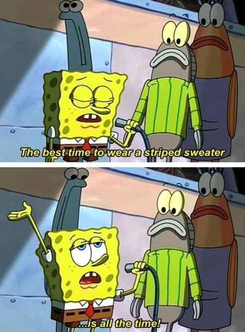 Spongebob Striped Sweater : spongebob, striped, sweater, SpongeBob, Preached, Truth, About, Striped, Sweaters:, Funniest,
