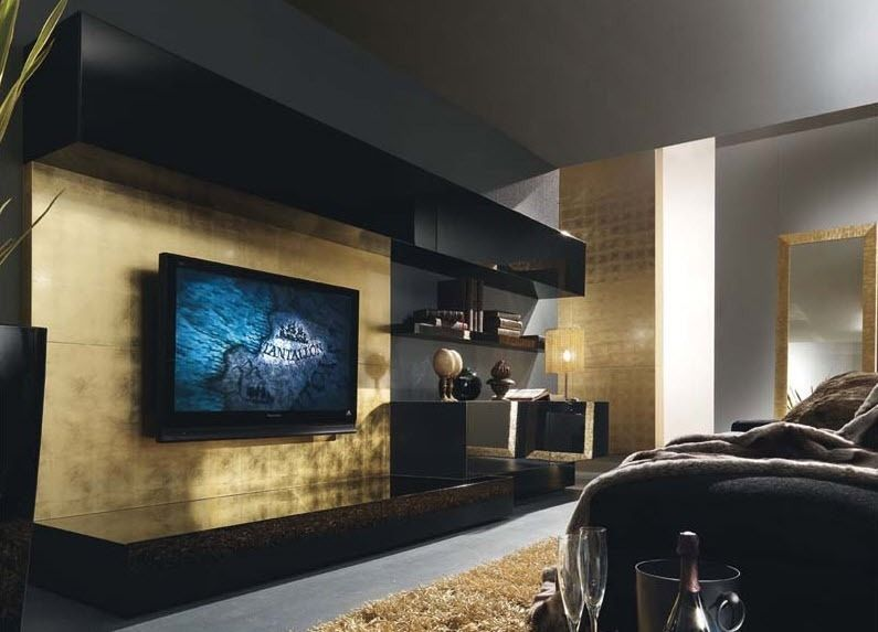 Moderne Wohnwand OASI 120 Presotto Italia | Wohnwand | Pinterest