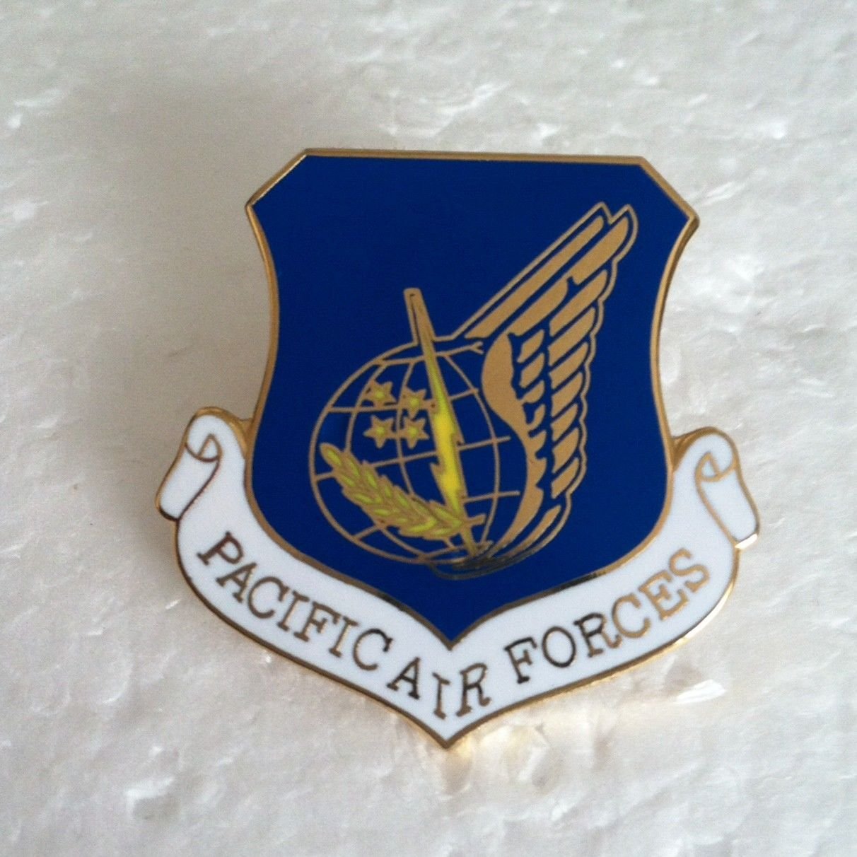 US Pacific Air Forces USAF Air Force Shield Blue Lapel Hat