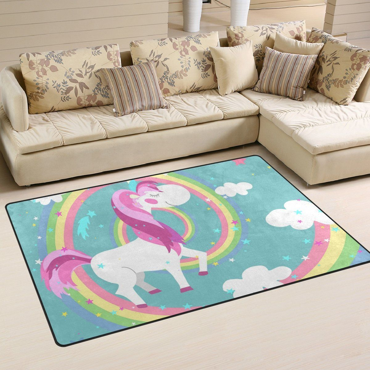 Amazon Teppiche Sale Unicorn Einhorn Teppich Babies Room Kids Rugs Kitchen