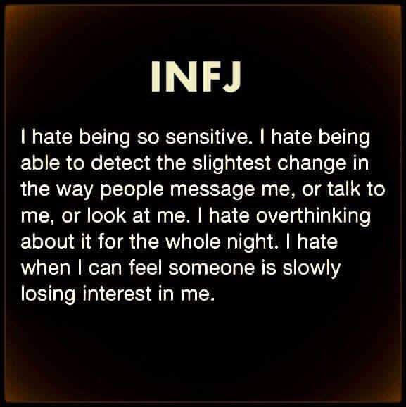 INFJ  The worst pain is knowing someone is slipping away and