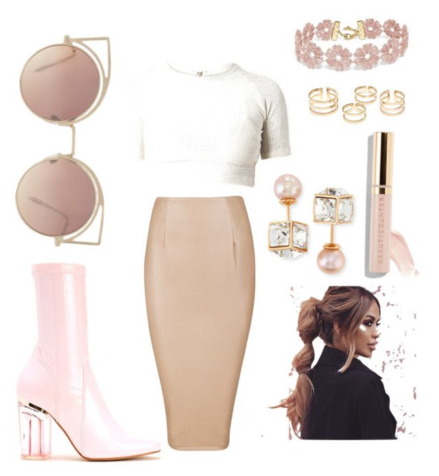 """I'm Blushing"" by colarue on Polyvore featuring BaubleBar, Vita Fede and MANGO"