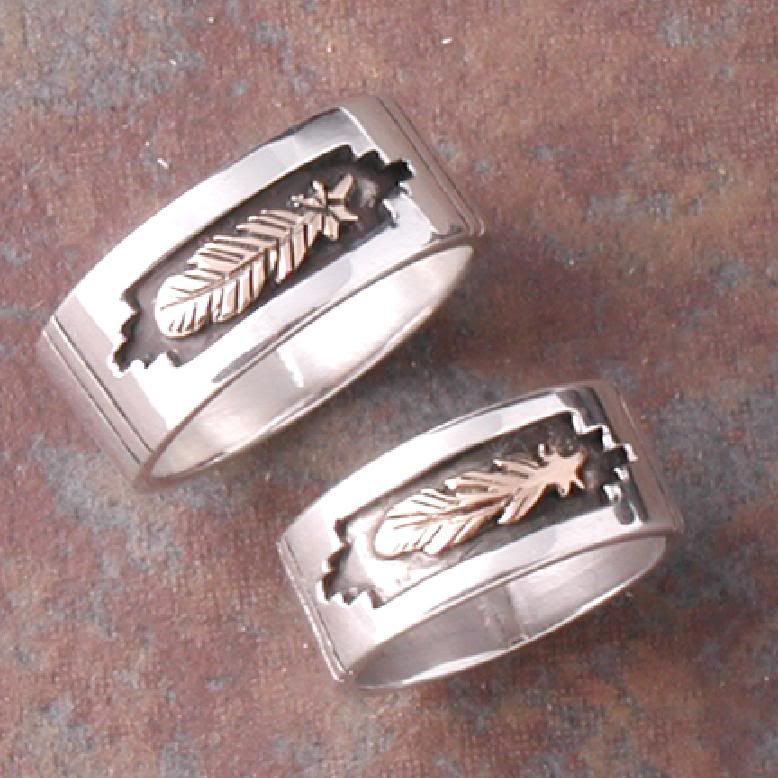 native american wedding rings sets | The maiden wore her ...