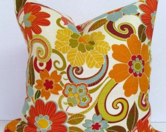 Teal Gray Yellow Pillow 16x16 By Elemenopillows On Etsy Floral Pillows Floral Pillow Cover