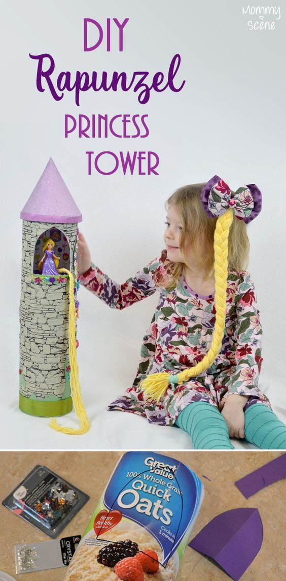 Diy Princess Tower From Recycled Containers The Pinterest Group