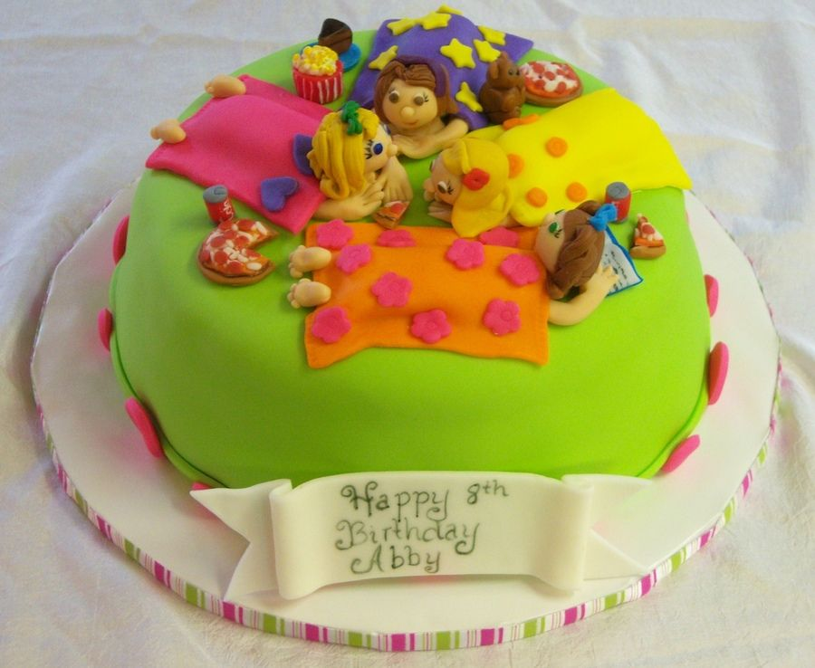 Sleepover Cake Childrens Birthday Cake Sleepover Cakes