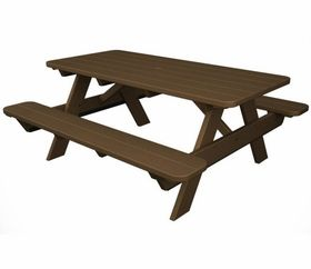 Polywood Park Picnic Table In Teak