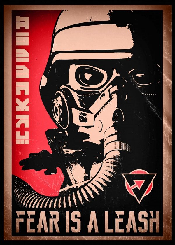 "Killzone Propaganda Fear Is A Leash #Displate explore Pinterest""> #Displate artwork by artist ""SyanArt"".… 