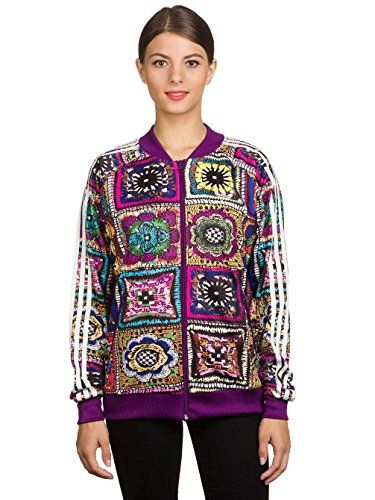 adidas Damen Crochita Supergirl Track Jacke, Multicolor, 42