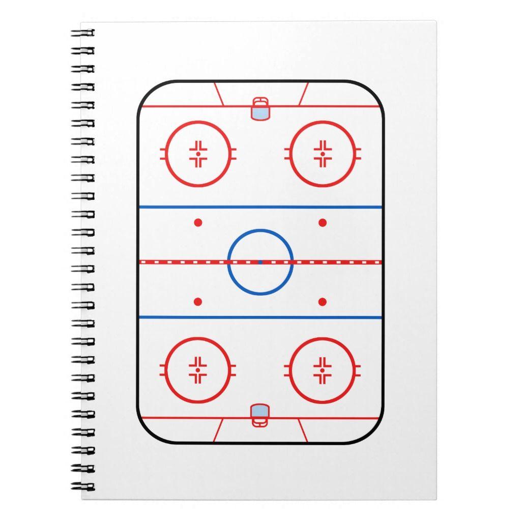 Ice Rink Diagram Hockey Game Decor Notebook Zazzle Com In 2020 Gaming Decor Hockey Games Ice Rink