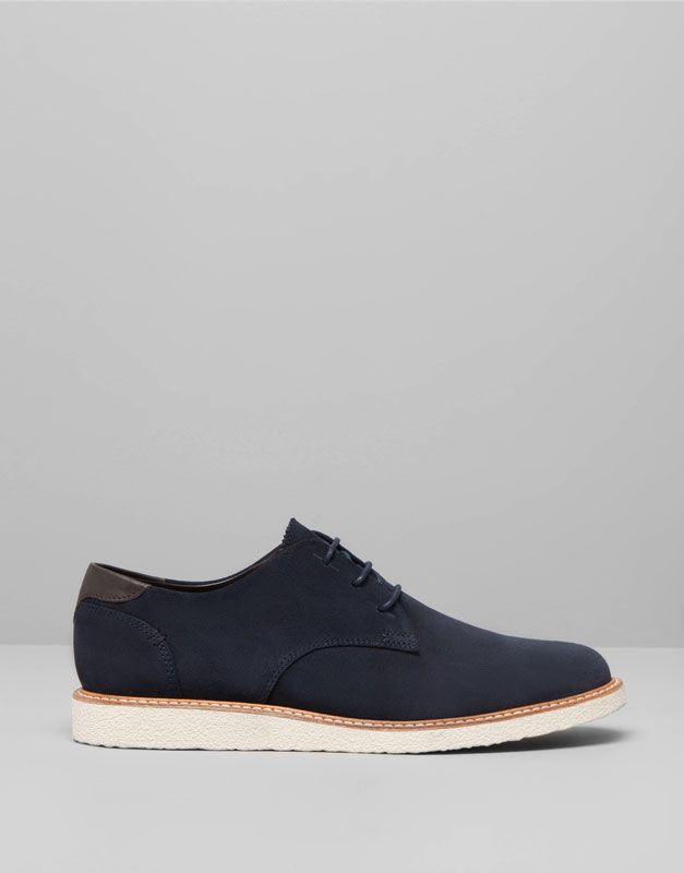 Pull Bear Footwear New Products Split Suede Wedge Shoes