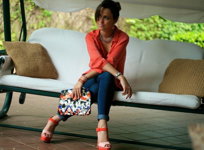 Camicia color corallo!