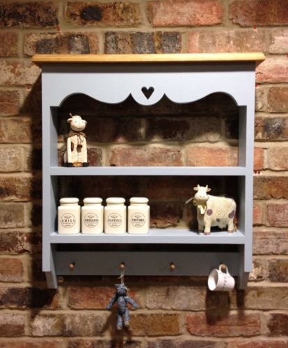 Kitchen Shelves Ebay: Shabby Chic Cabinet/shelf Unit/wall Unit In Blue For