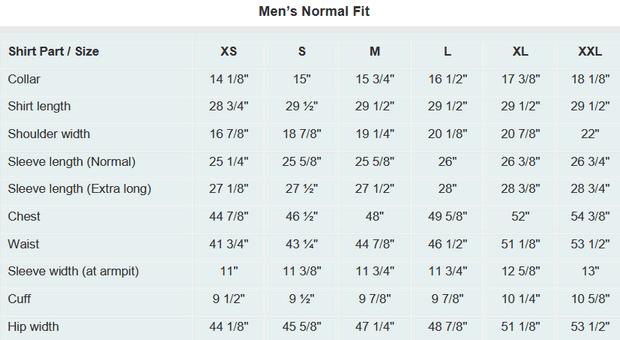 Mens Dress Shirt Measurement Guide With Size Chart Mens Shirt