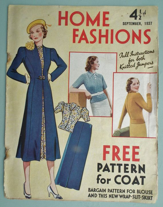 Vintage 30s Sewing Patterns Catalog Home by sewmuchfrippery ...