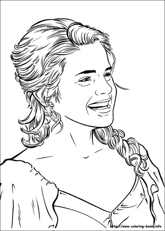 Hermione harry potter coloring pages