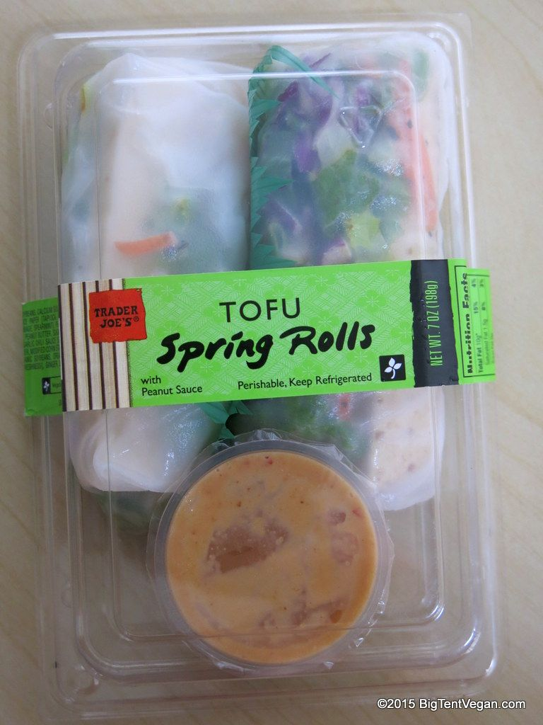 Image result for trader joe's tofu spring rolls""