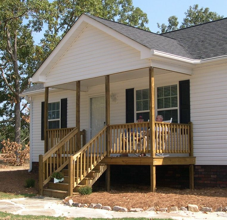 Front porch mobile home floor plans for Deck plans for mobile homes