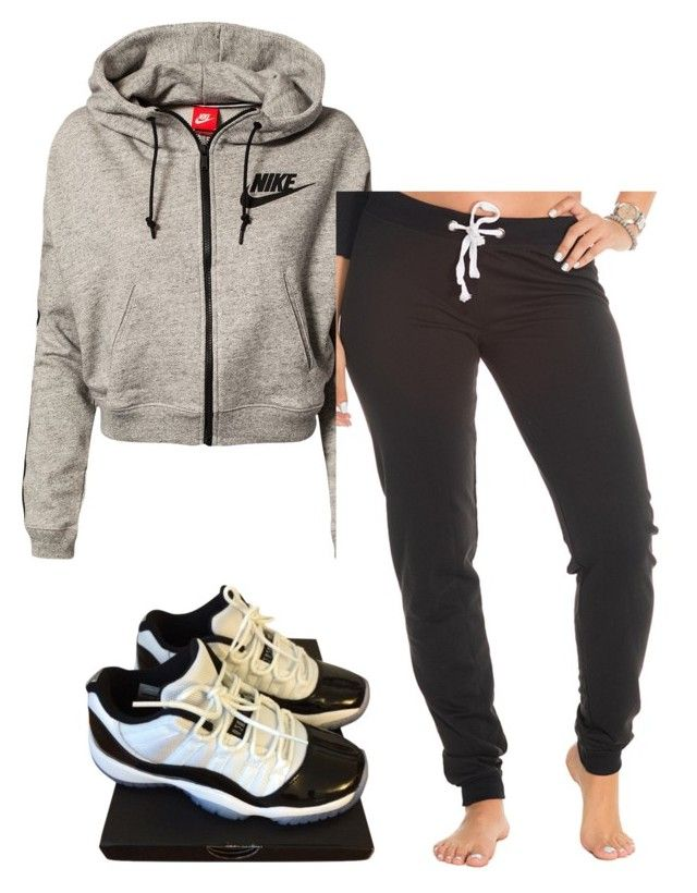 """Untitled #176"" by layyyyyyyy ❤ liked on Polyvore featuring NIKE, women's clothing, women's fashion, women, female, woman, misses and juniors"