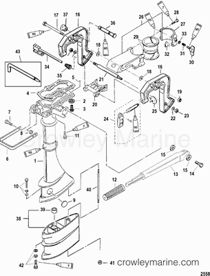 Driveshaft Housing And Clamp Brackets Mercury Outboard Outboard Mercury