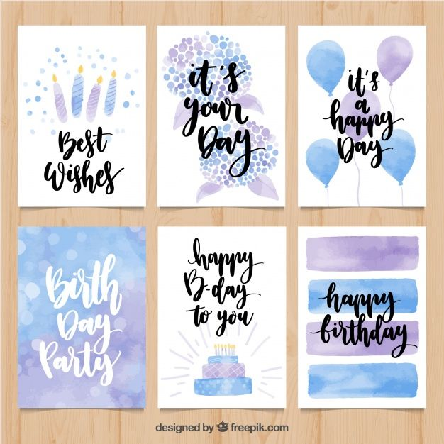 Download Watercolor Birthday Card Pack For Free Birthday Card Drawing Birthday Card Craft Watercolor Birthday Cards