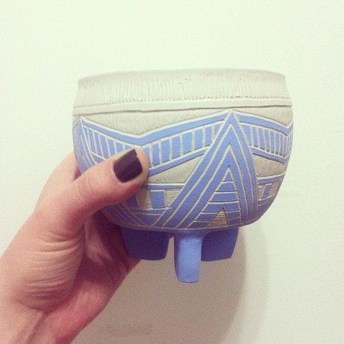 New planter friend.  #stvdiobk #brooklyn #art #ceramic #planter #pottery #handmade  www.stvdiobrooklyn.com